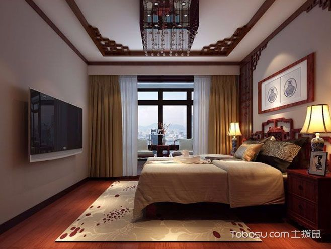 新中式卧室床头灯图片,诠释典雅婉约风情