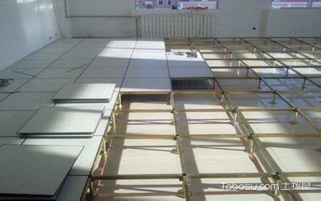 防静电地板的安装方法之平整度