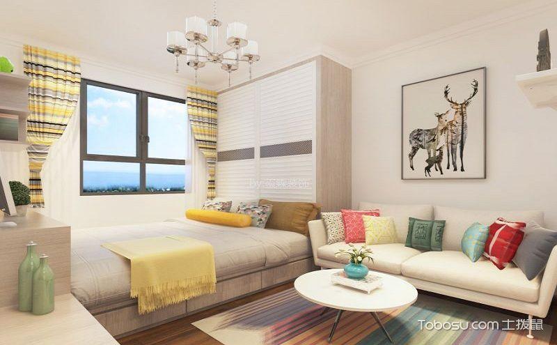 50平小户型简约装修效果图,5万元装出温馨小宅