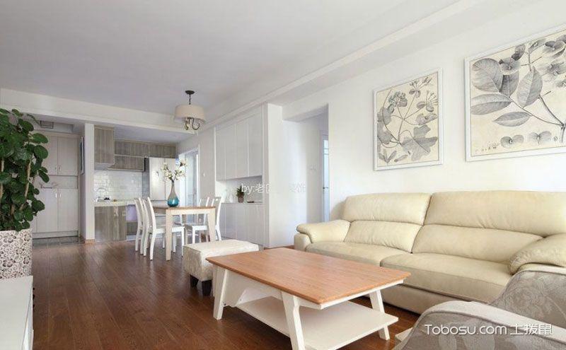 90平米三室一厅简装设计图,极简主义酝酿丰满生活