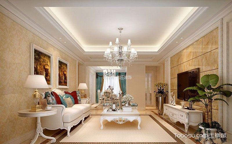简欧客厅装饰画效果图,感受异域家居风情