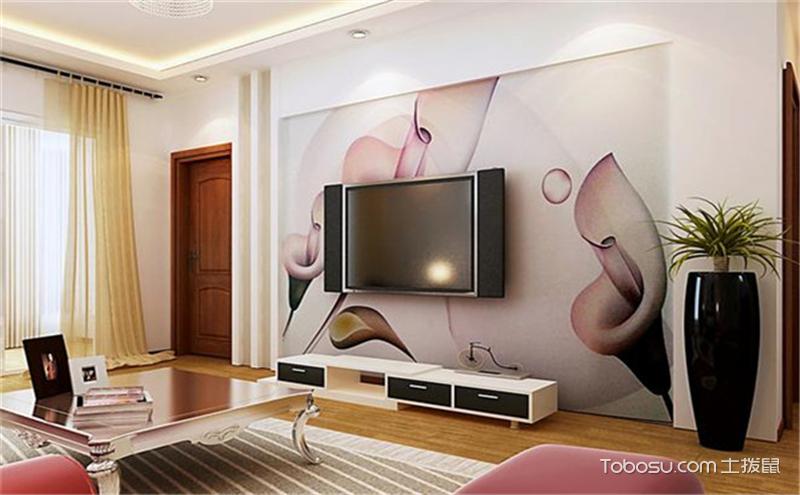 电视背景墙壁纸效果图,小饰品的大用途!