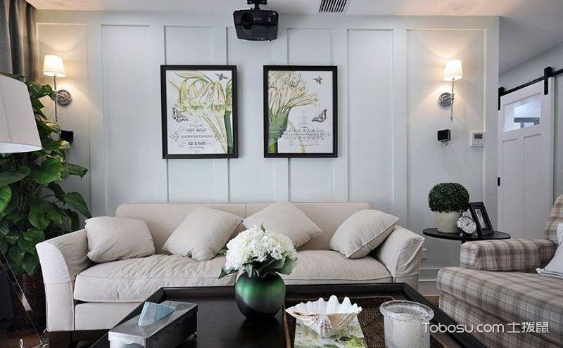 客厅沙发背景墙装饰画图片,淡妆浓抹总相宜