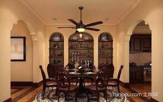 吊扇灯的安装方法之客厅