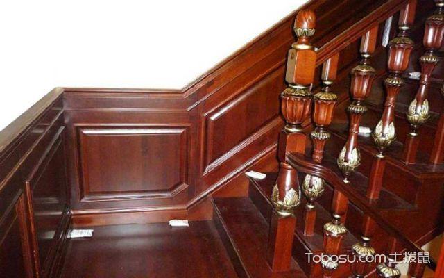楼梯护墙板哪种好之木纹人造板