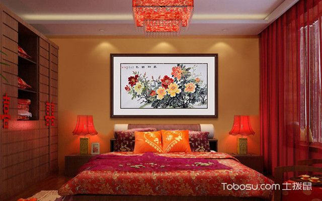 卧室床头挂什么画之国画