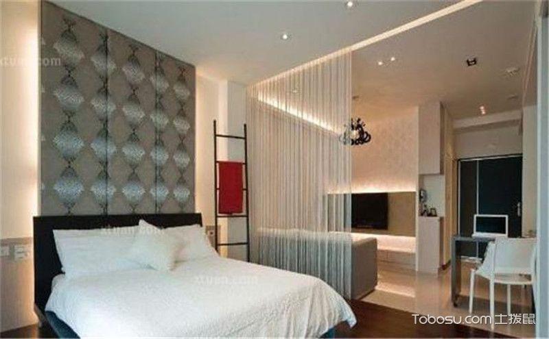 客厅书房卧室一体效果图,小空间的三重用途