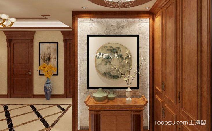 中式别墅玄关装修设计图,浓浓的优雅禅意
