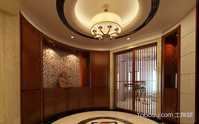 圆形玄关怎么设计之装饰