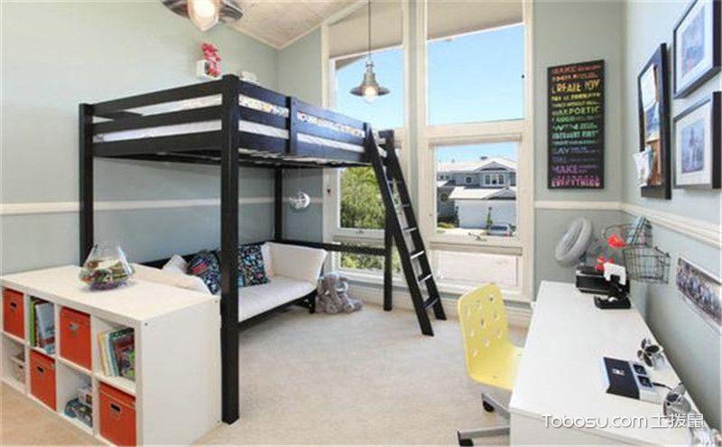上下铺儿童房装修效果图,充满童趣的小空间!