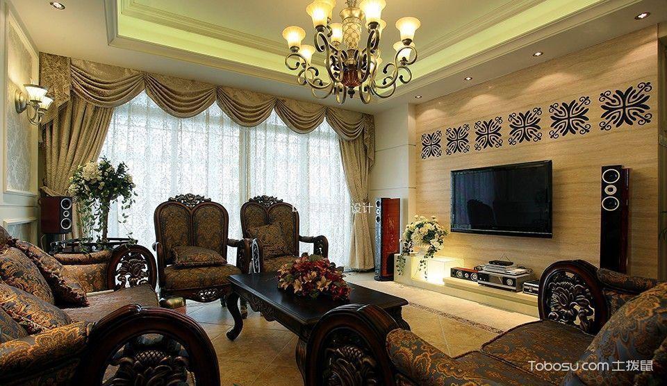 90平米三居室装修效果图案例,光影迷离欧式豪情