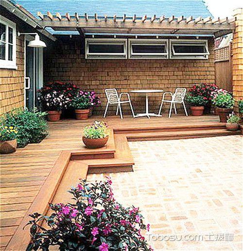 舒适农村小庭院设计实景图