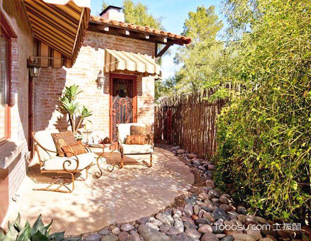 阳光农村小庭院设计实景图