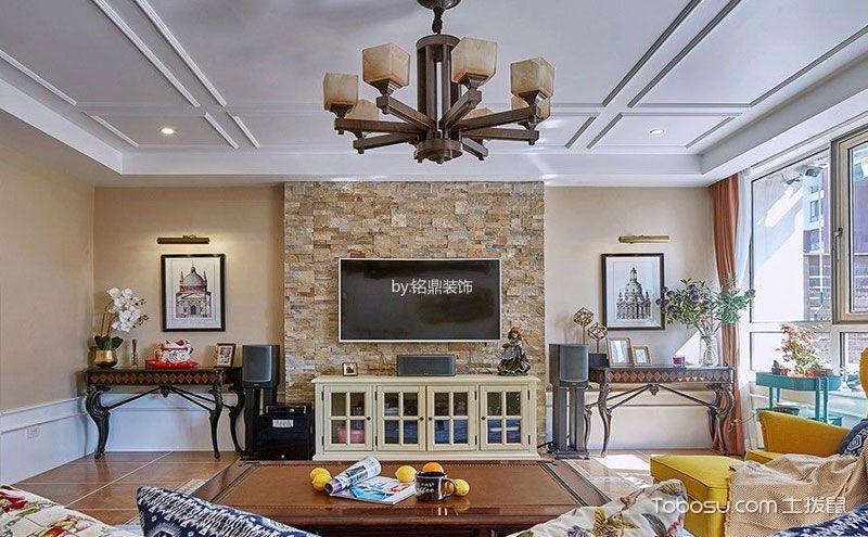 美式乡村风格电视墙装修效果图,身心彻底放松