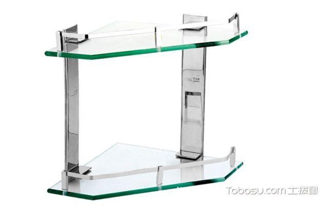 浴室置物架什么材质好之玻璃材质