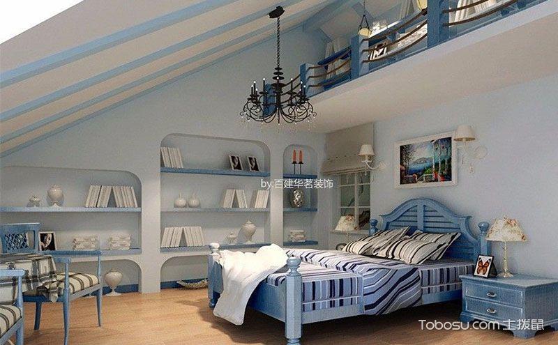 创意阁楼卧室吊灯装修效果图,创意吊顶美如画