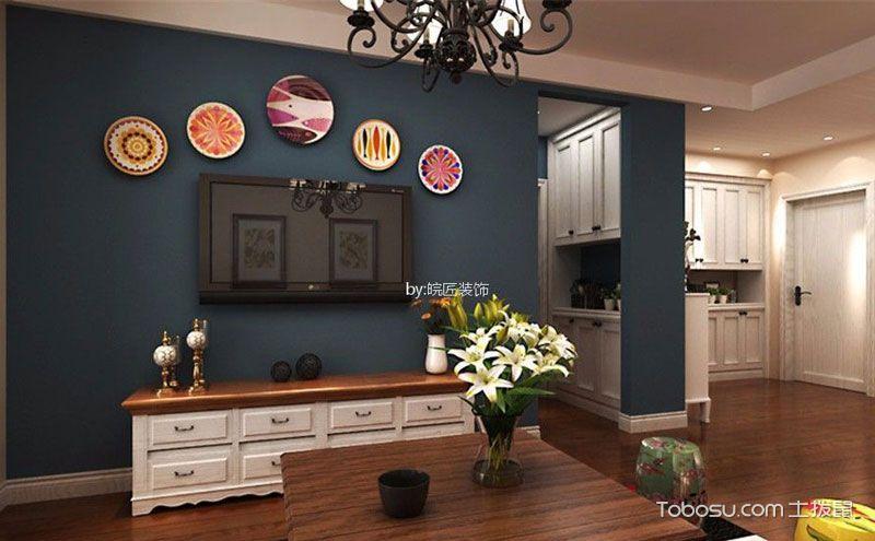 美式风格客厅电视墙效果图,家的温暖与别致