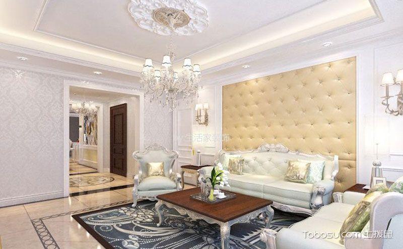 欧式三室一厅装修效果图.典雅气质高贵品质