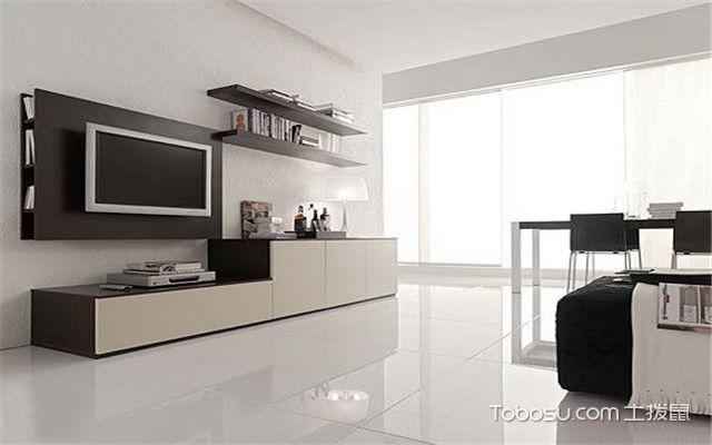 黑白色电视柜