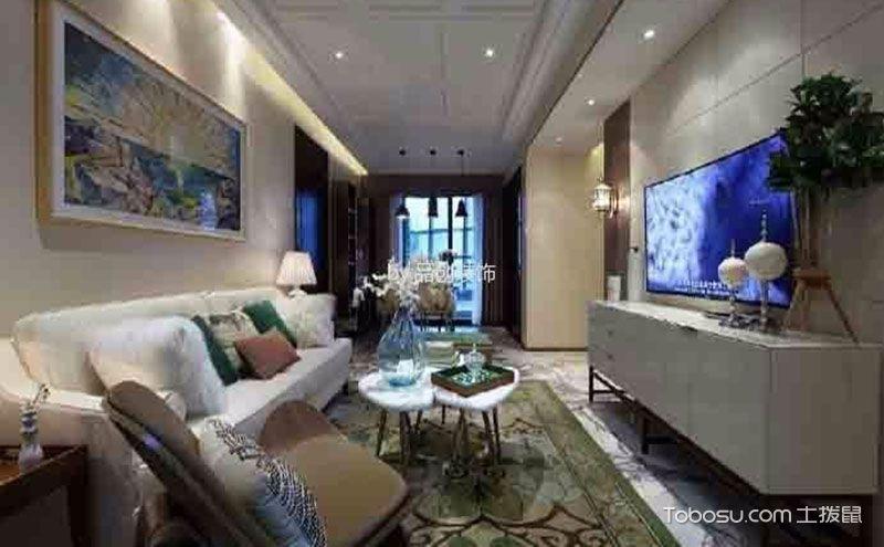 95平方三室两厅装修效果图,小房子大风景