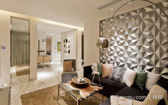 现代简约式别墅装修客厅效果图