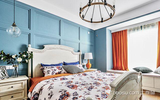 美式卧室床头背景墙