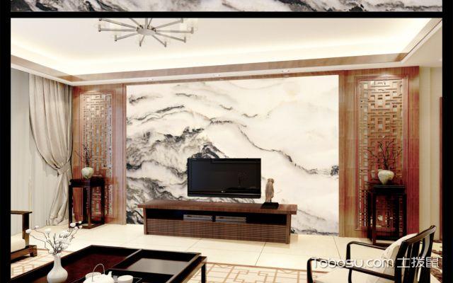 现代中式大理石风格背景墙