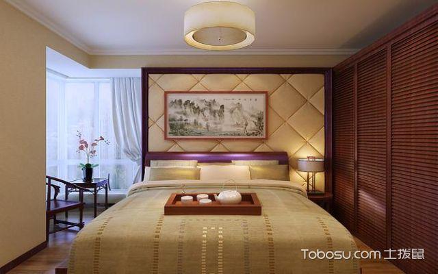现代中式软包风格背景墙