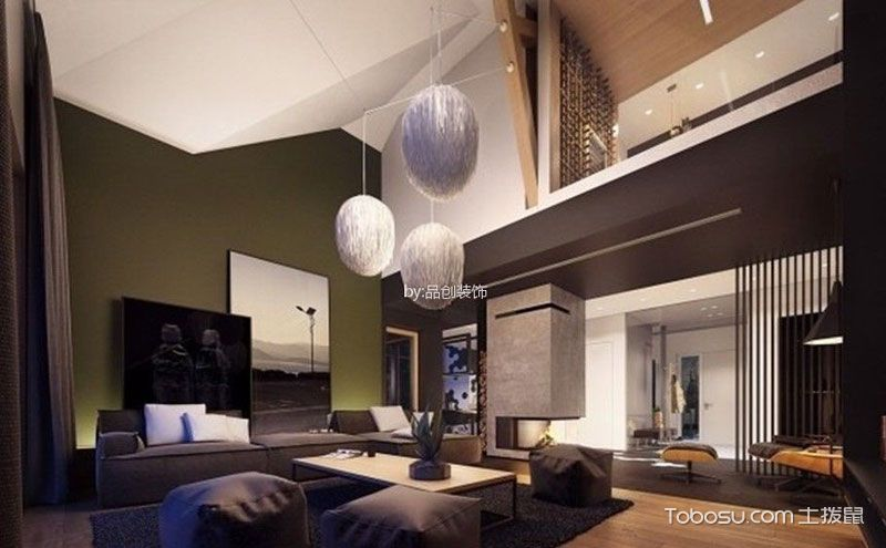 140平方别墅装修效果图,来自未来的几何空间
