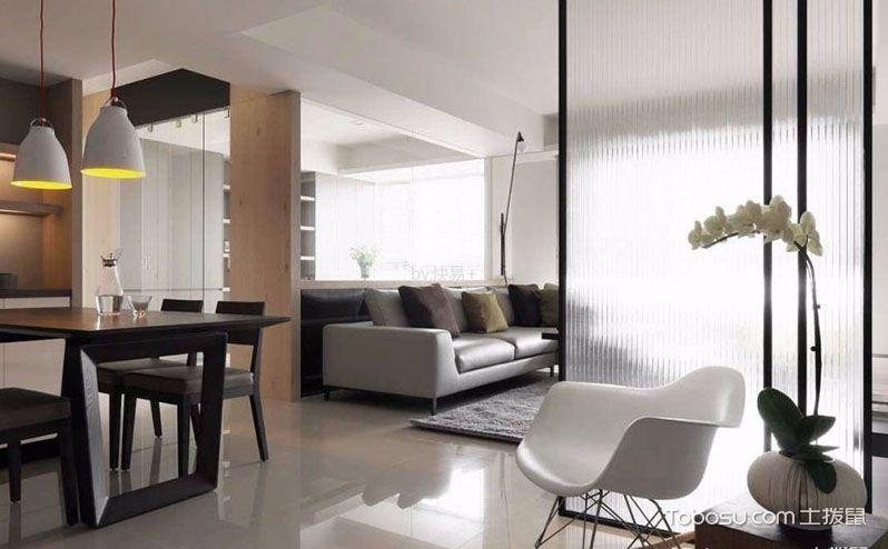 客厅玻璃隔断效果图,居家生活就是要有个性