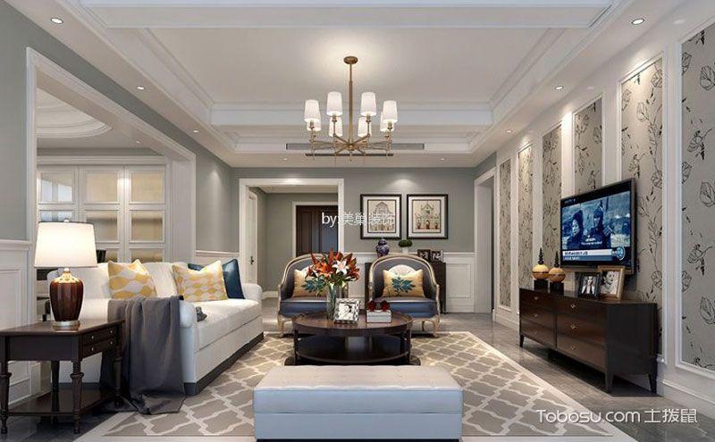 美式客厅地砖装修效果图,用心拼接多彩生活