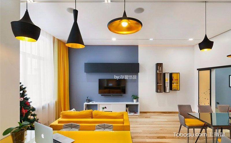 现代客厅电视背景墙装修效果图,生活从不将就