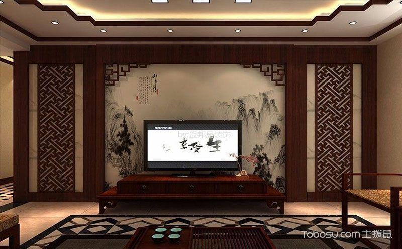 中式风格客厅装修图,展示中华传统美