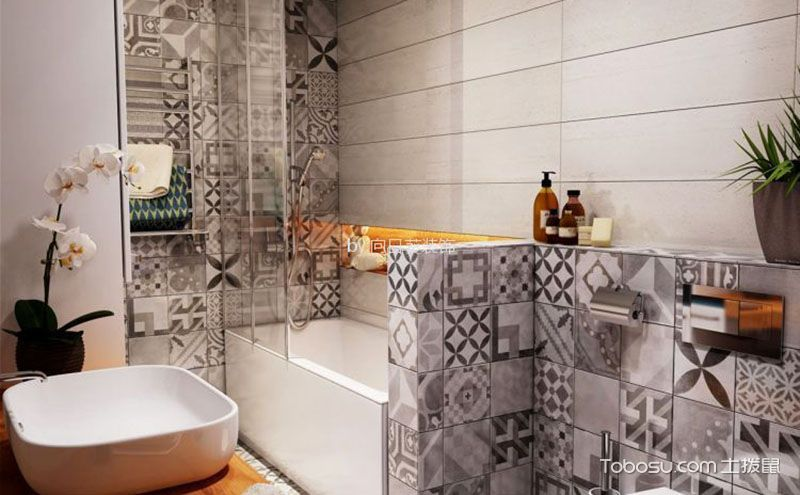 卫生间隔断设计图,与美仅一墙之隔