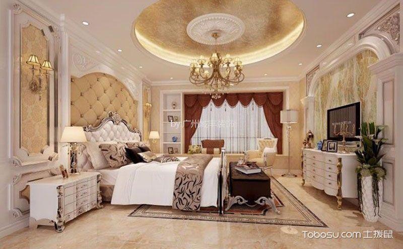 欧式风格主卧室装修效果图,除了高贵也有浪漫