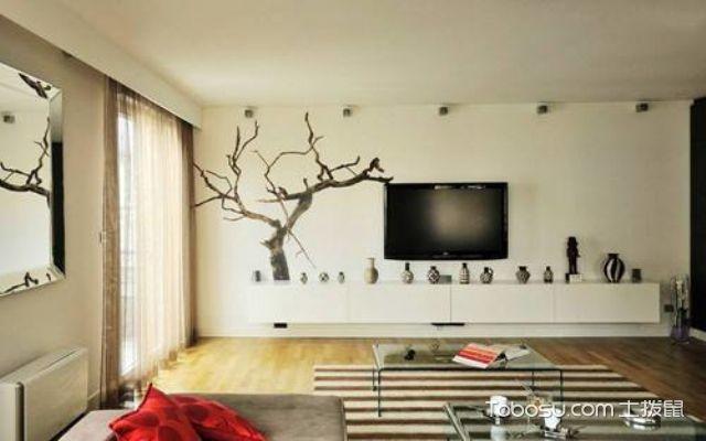 壁纸类北欧风格电视背景墙