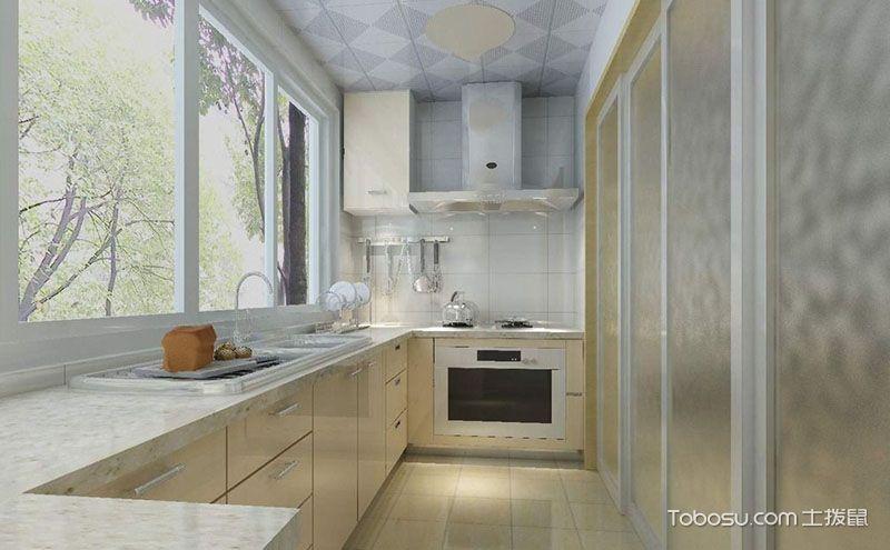 厨房推拉门装修效果图,轻轻一推便是另一世界