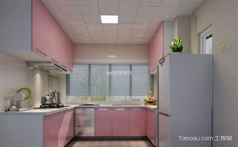 厨房整体橱柜效果图,缤纷色彩创意空间