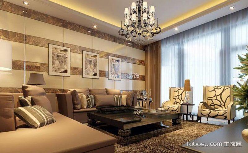 现代装修客厅效果图,抛却奢华或许更自在