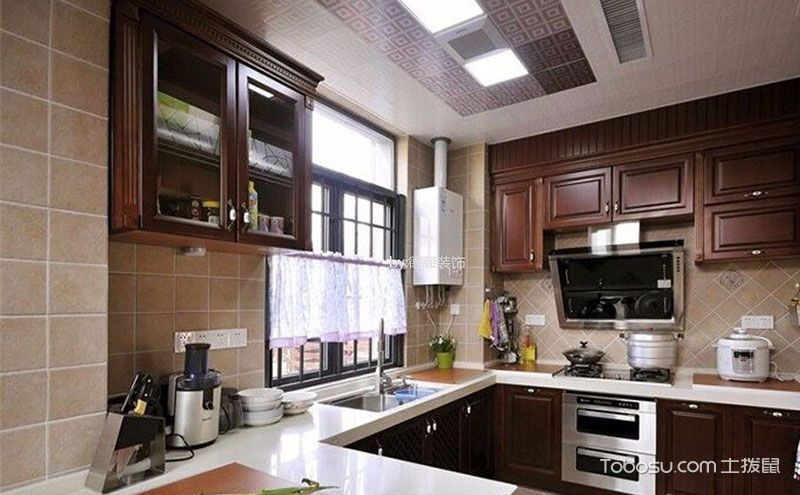 整体厨房装修效果图,紧跟潮流让家更时尚