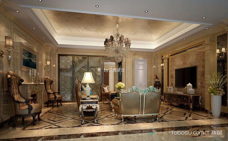 欧式别墅客厅装修设计图,独具豪气的会客空间