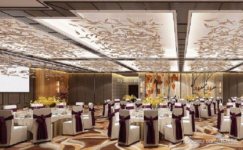 饭店餐厅吊顶效果图,营造最好的用餐氛围