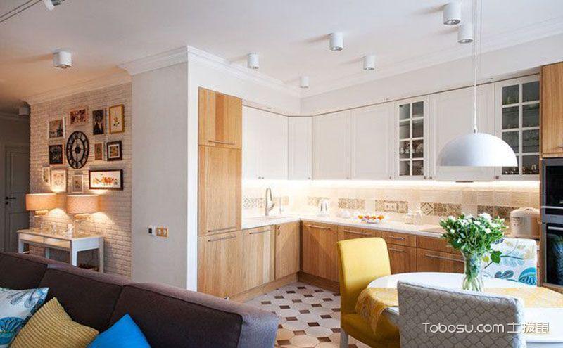 L型小厨房装修,简单也能带出时尚感