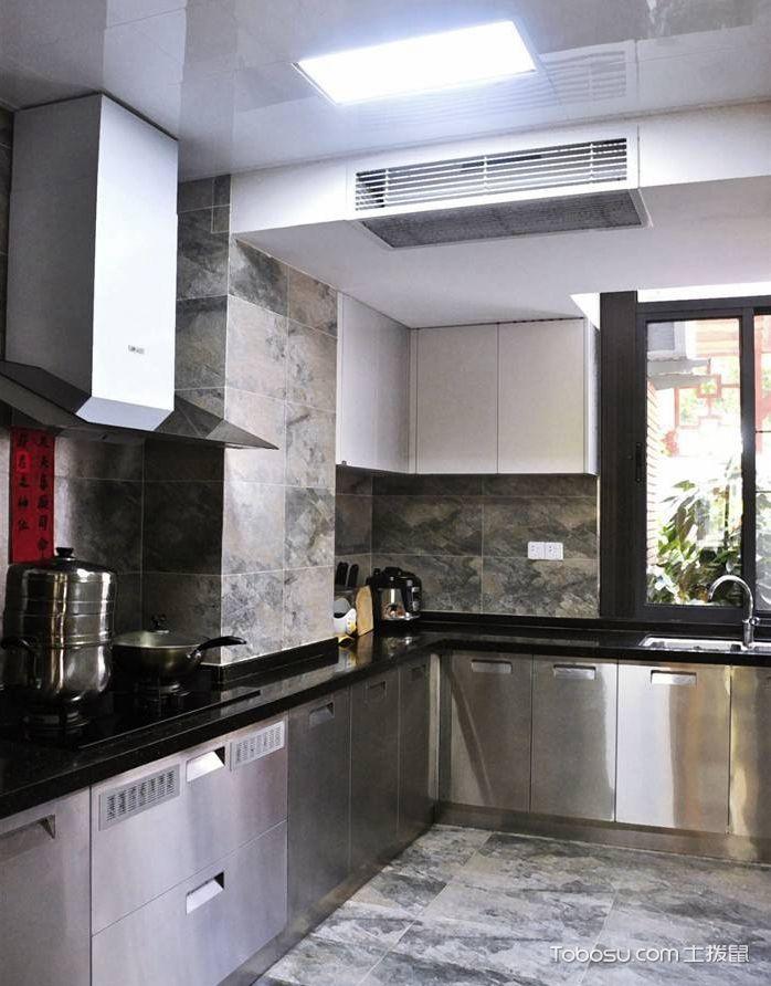 不锈钢厨房装修设计效果图