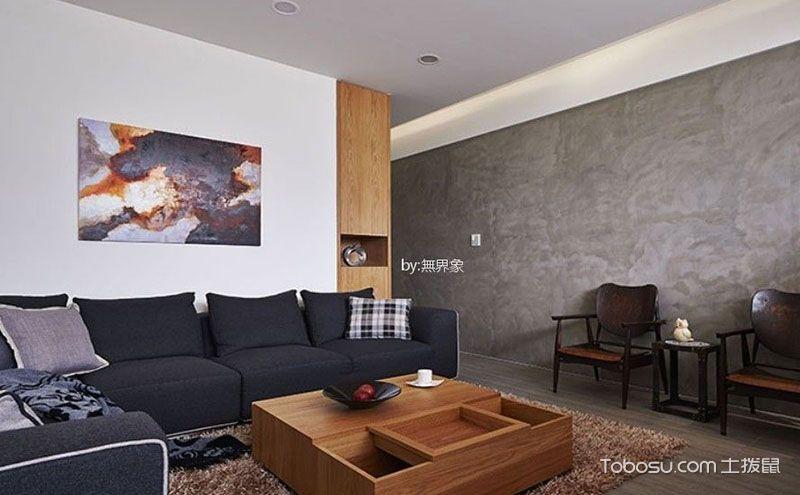 楼房90平米装修效果图,隔断成为客厅最大亮点