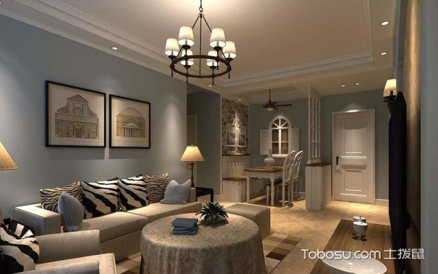 中户型简欧风格装修客厅特点