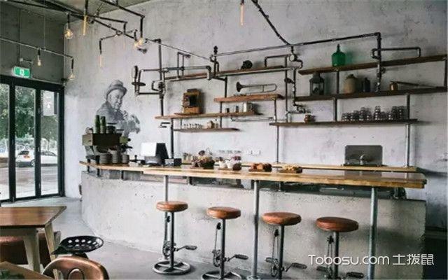 餐厅吧台装修风格:工业风风格