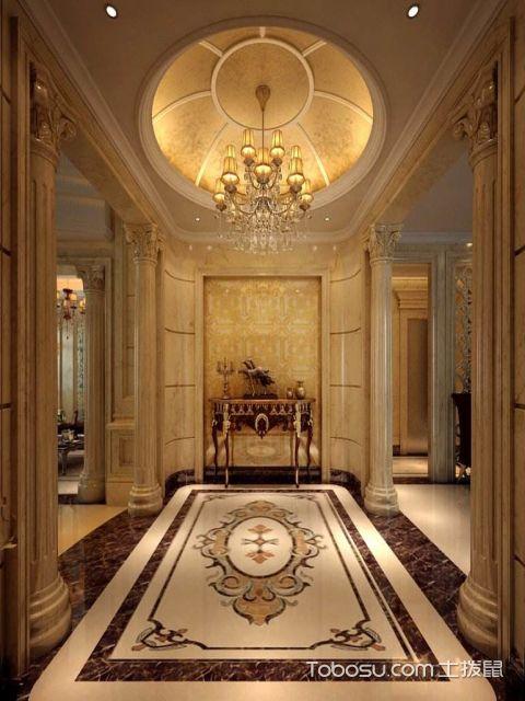 客厅玄关地面装饰设计