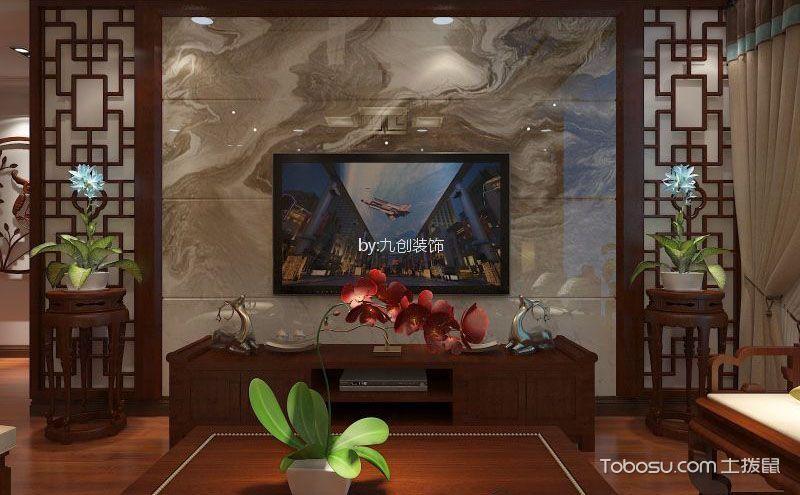 中式风格客厅电视墙效果图,唯美意境由此而来