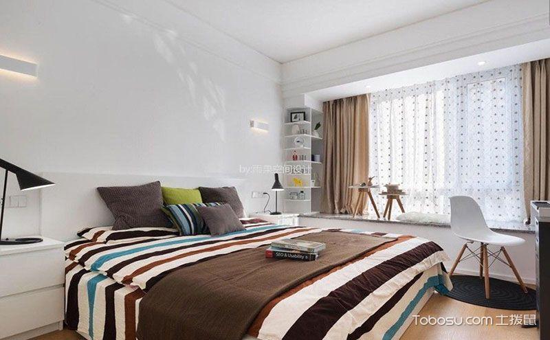 北欧卧室飘窗设计效果图,独享一片安静角落